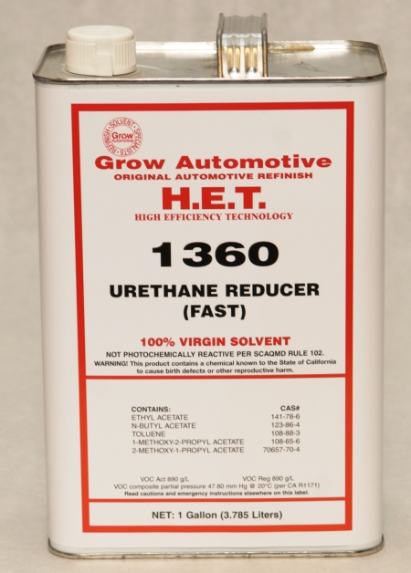 Grow Automotive 1360 Urethane Reducer FAST Gallon