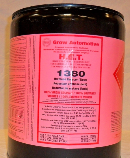 Grow Automotive 1380 Urethane Reducer SLOW 5 Gallon