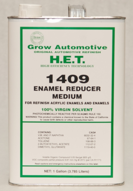Grow Automotive Acrylic Enamel Reducer Medium Gallon