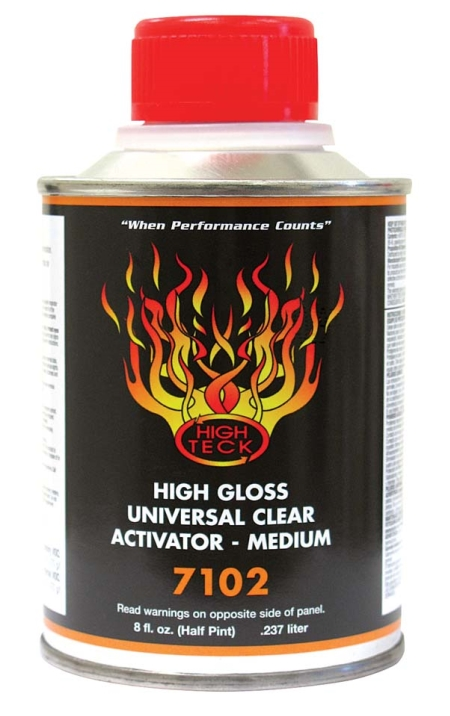 High Teck 7102 High Gloss Urethane Clear Activator MEDIUM Half Pint