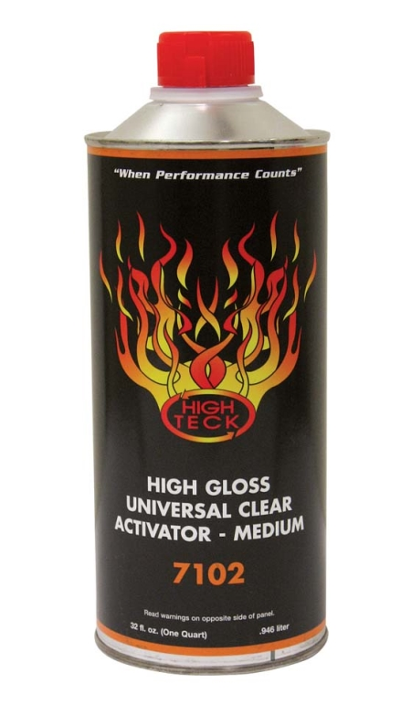High Teck 7102 High Gloss Urethane Clear Activator MEDIUM Quart