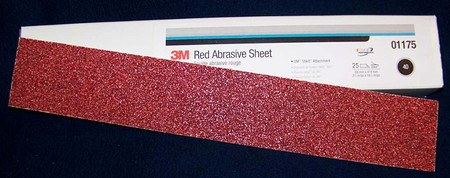 3M Red Stikit File Sheet Sandpaper