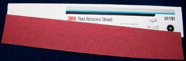 3M Red Hookit File Sheet Sandpaper