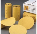 "Norton A296 Gold Reserve 6"" PSA Sandpaper Disc Roll"