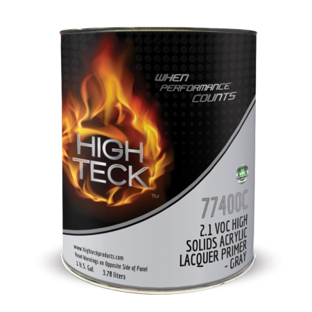 High Teck 77400 2.1 VOC High Solids Acrylic Lacquer Primer Gray - Gallon