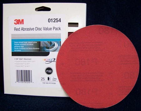 "3M Red Stikit 6"" Disc Sandpaper Value Pack"