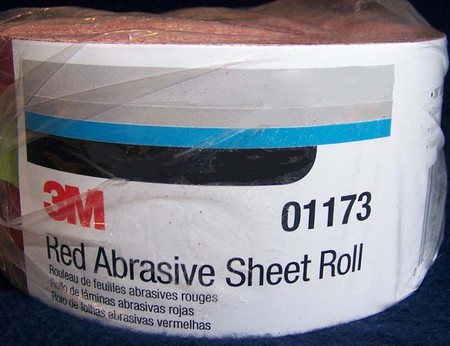 3M Red Stikit Continuous Sheet Roll Sandpaper