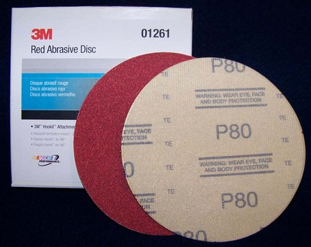 "3M Red Hookit 6"" Disc Sandpaper"