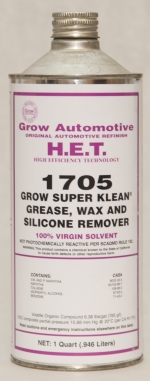Grow Automotive 1705 Wax Grease Silicone Remover Quart