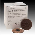 3M 7485 Scotch-Brite™ Roloc™ Surface Conditioning Disc, Course/Brown