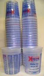 High Teck 32oz 1 Quart Plastic Paint Mix Cups w/Graduations 100 Pack