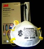 3M N95 Safety Respirator Dust Mask Bx/20