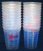 High Teck 32oz 1 quart Plastic Paint Mix Cups w/Graduations  20 Pack