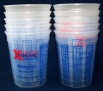 5 Star 1 quart Plastic Paint Mix Cups w/Graduations 10 pack